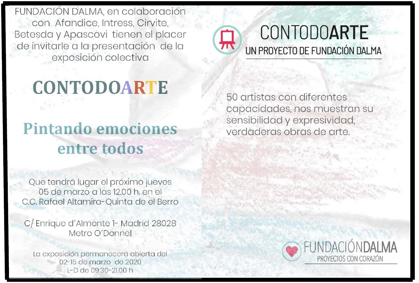 Exposición Contodoarte Quinta del Berro del 5 al 15 de marzo